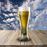 Exponeringsglas av kallt öl Fotografering för Bildbyråer