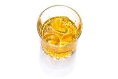 Exponeringsglas av kväv whisky Fotografering för Bildbyråer