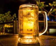 Exponeringsglas av ljust öl Royaltyfri Foto