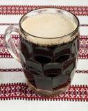 Exponeringsglas av mörkt öl Royaltyfri Foto