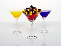 Exponeringsglas av martini isolerade på en vit bakgrund Royaltyfria Foton