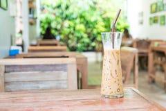 exponeringsglas av med is espressokaffe Fotografering för Bildbyråer