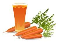 Exponeringsglas av morotfruktsaft Royaltyfria Foton