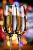 Exponeringsglas av mousserande vin Royaltyfri Bild