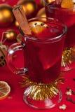 Exponeringsglas av mulled wine Royaltyfri Bild