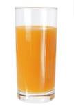 Exponeringsglas av orange fruktsaft Royaltyfri Bild
