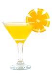 Exponeringsglas av orange fruktsaft. Royaltyfri Foto