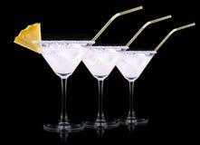 exponeringsglas av Pina Colada Cocktail Royaltyfri Bild