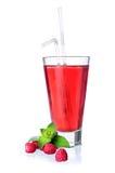Exponeringsglas av röd lemonad Arkivbilder