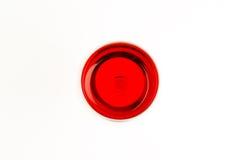Exponeringsglas av rött vin överst Arkivfoton