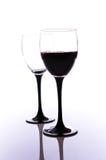 Exponeringsglas av rött vin royaltyfri fotografi