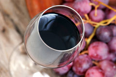 Exponeringsglas av rött vin Royaltyfria Bilder