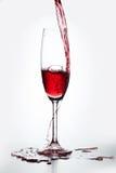 Exponeringsglas av rött vin Royaltyfri Bild