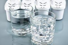 Exponeringsglas av rent dricksvatten Fotografering för Bildbyråer