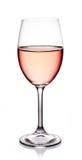 Exponeringsglas av rosa vin Royaltyfria Foton