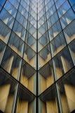 Exponeringsglas av skyskrapan Arkivbilder