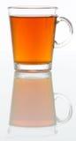 Exponeringsglas av te Arkivfoto