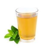 Exponeringsglas av tea och tealeaves royaltyfri fotografi