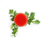 Exponeringsglas av tomaten Royaltyfria Bilder