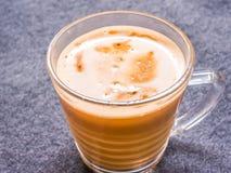 Exponeringsglas av varmt kaffe Arkivfoton