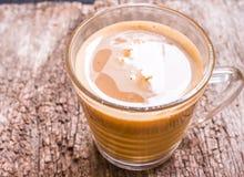 Exponeringsglas av varmt kaffe Fotografering för Bildbyråer