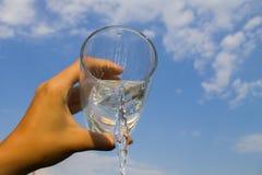 Exponeringsglas av vatten Fotografering för Bildbyråer