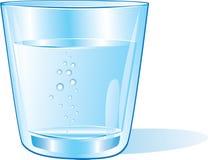Exponeringsglas av vatten Arkivbilder
