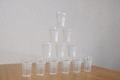 Exponeringsglas av vatten Arkivfoton