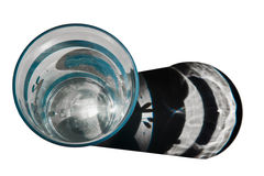 exponeringsglas av vatten med skugga Arkivfoton