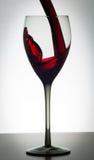 Exponeringsglas av vin Arkivfoto