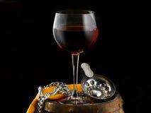 Exponeringsglas av vin Royaltyfria Foton