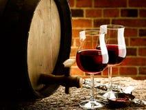 Exponeringsglas av vin Arkivfoton