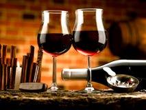 Exponeringsglas av vin Fotografering för Bildbyråer