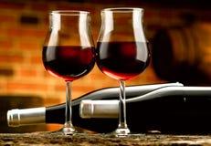 Exponeringsglas av vin Royaltyfri Foto