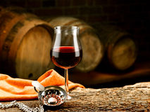 Exponeringsglas av vin Arkivbilder