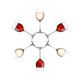 Exponeringsglas av vin som isoleras på vit bakgrund arkivfoto