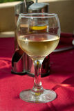 Exponeringsglas av vitt vin Royaltyfria Bilder