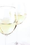 Exponeringsglas av vitt vin - studioskott royaltyfri fotografi