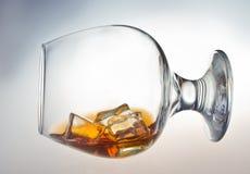 Exponeringsglas av whisky Fotografering för Bildbyråer