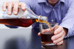 Exponeringsglas av whisky arkivfoto