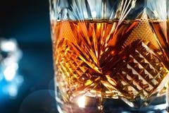 Exponeringsglas av whisky Royaltyfri Foto