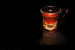 Exponeringsglas av whisky Arkivfoton