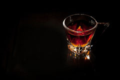 Exponeringsglas av whisky Arkivbild