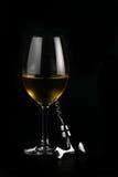 Exponeringsglas av wine Arkivfoto