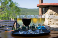 Exponeringsglas av wine royaltyfri fotografi