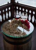 Exponeringsglas av wine Arkivfoton