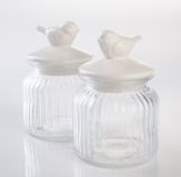 exponeringsglas- eller godiskrus på en bakgrund Fotografering för Bildbyråer