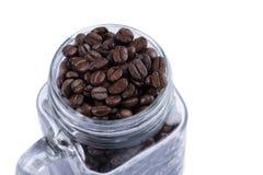 exponeringsglas för bönakaffekopp royaltyfria bilder
