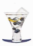 exponeringsglas för blåbärblåbärcoctail Arkivfoto