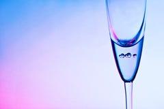 Exponeringsglas för champagne Royaltyfria Bilder